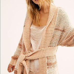 NWT Free People Cozy Cabin Cardi Sweater Small